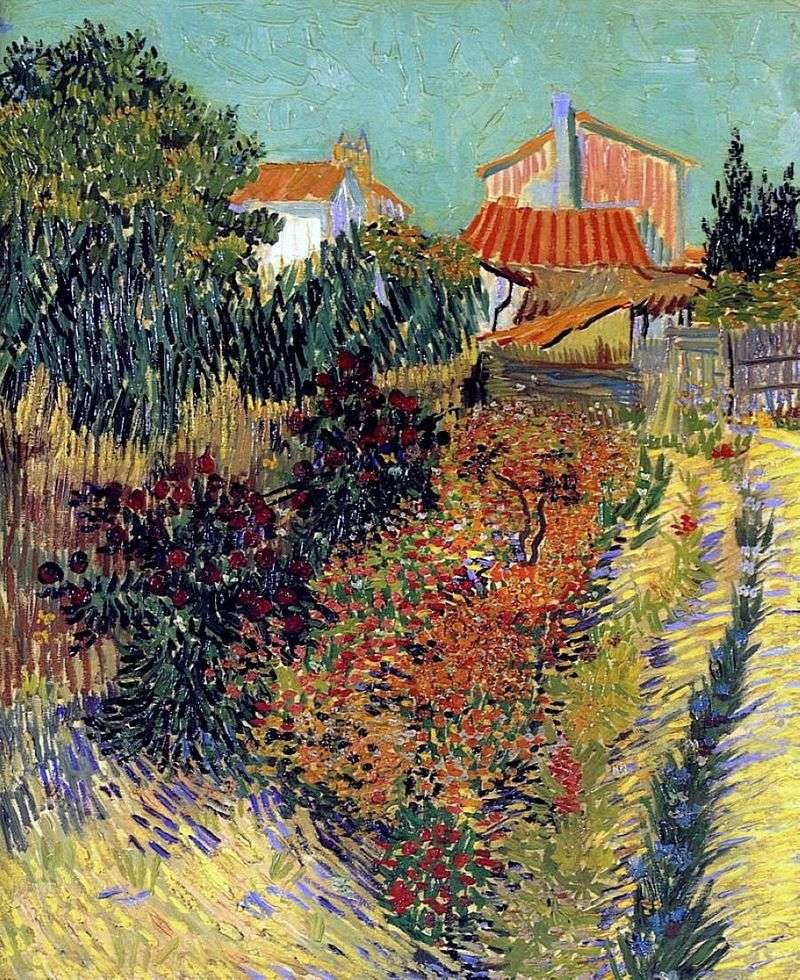 Сад за будинком   Вінсент Ван Гог