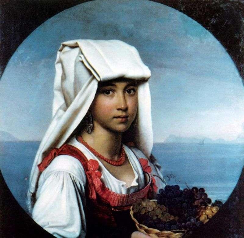 Неаполітанська дівчинка з плодами   Орест Кіпренський