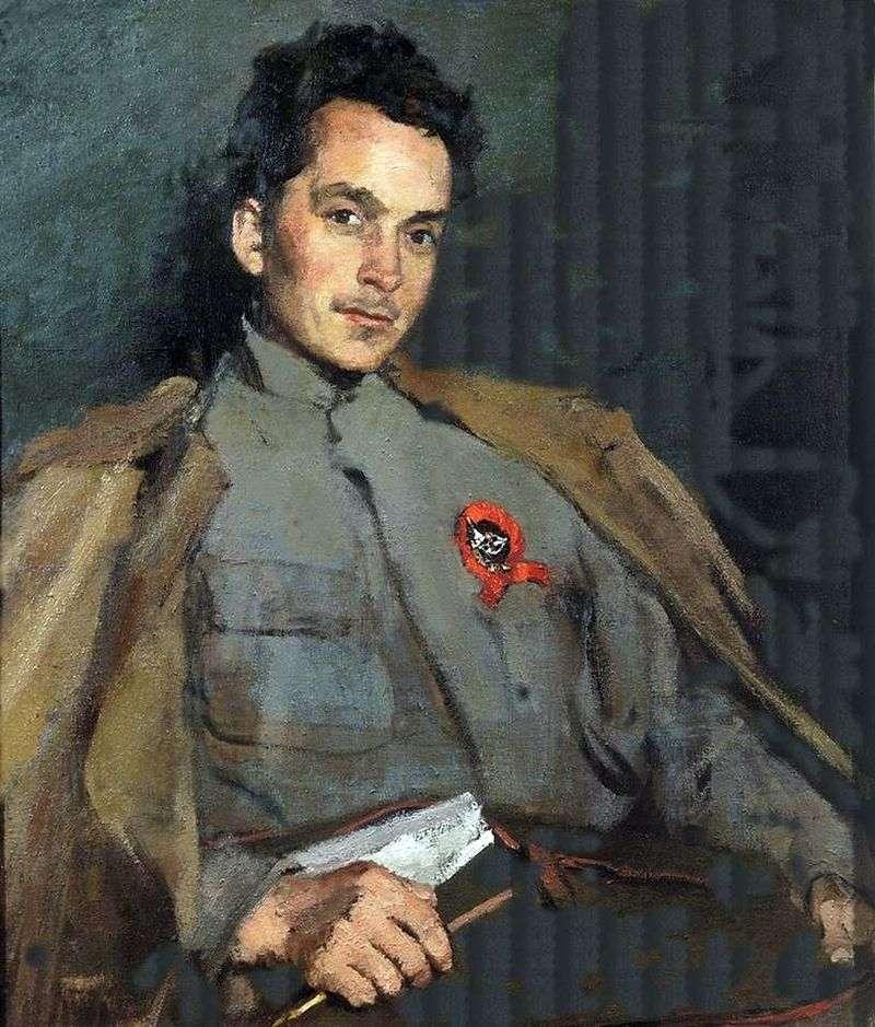 Портрет письменника Д. А. Фурманова   Сергій Малютін