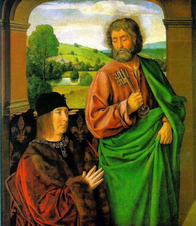 Пєр II, герцог Бурбонський зі св. патроном апостолом Петром   Жан Хей