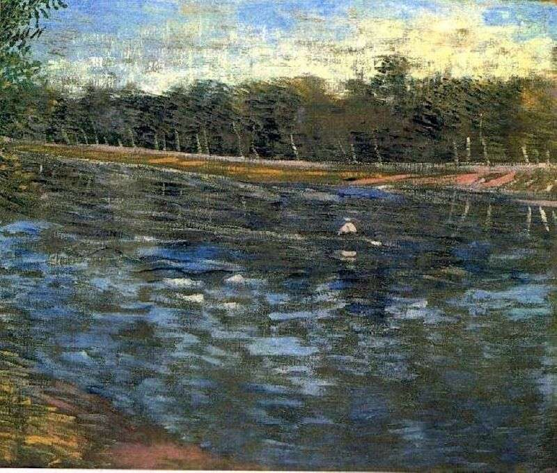 Сіна і човен з гребцем   Вінсент Ван Гог