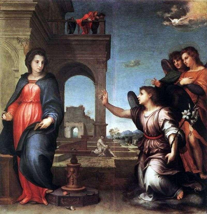 Благовіщення   Андреа дель Сарто