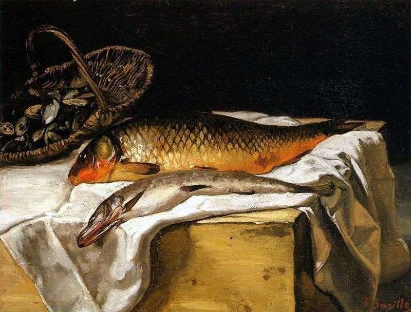Натюрморт з рибою   Фредерік Базиль