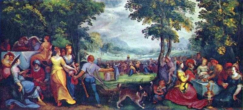 Сини Ізраїлю, які танцюють навколо золотого тільця   Карел ван Мандер