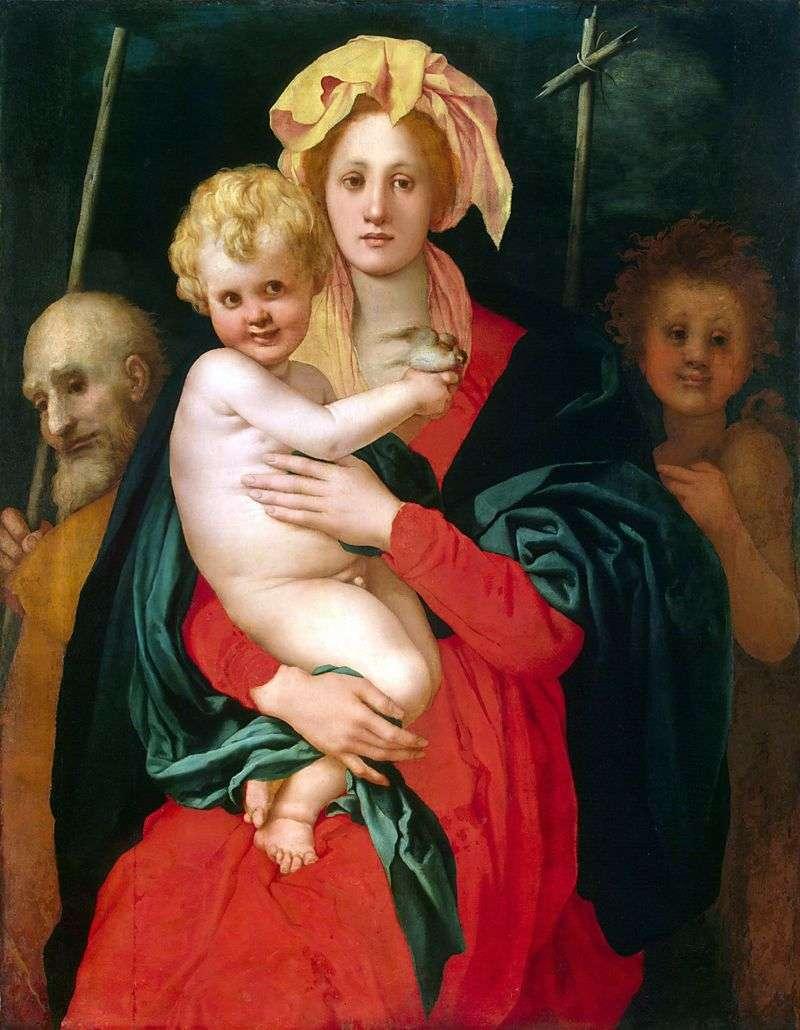 Мадонна з Немовлям, св. Йосипом та Іоанном Хрестителем   Якопо Понтормо
