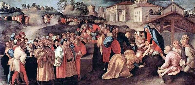 Поклоніння волхвів   Якопо Понтормо