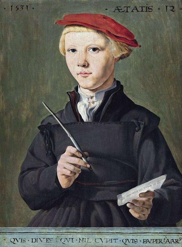 Портрет школяра   Мартен ван Хемскерк