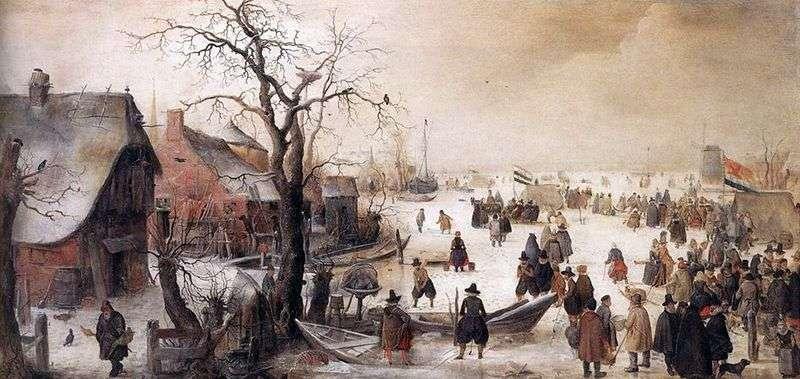 Взимку на каналі   Аверкамп Хендрік