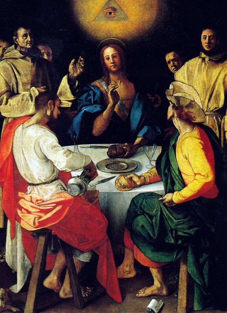 Вечеря в Еммаусі   Понтормо