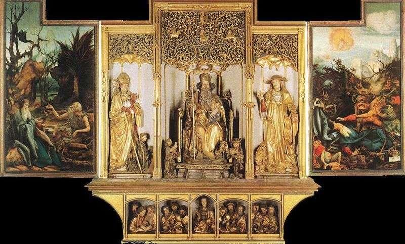 Изенгеймский вівтар скульптурна композиція   Матіас Грюневальд