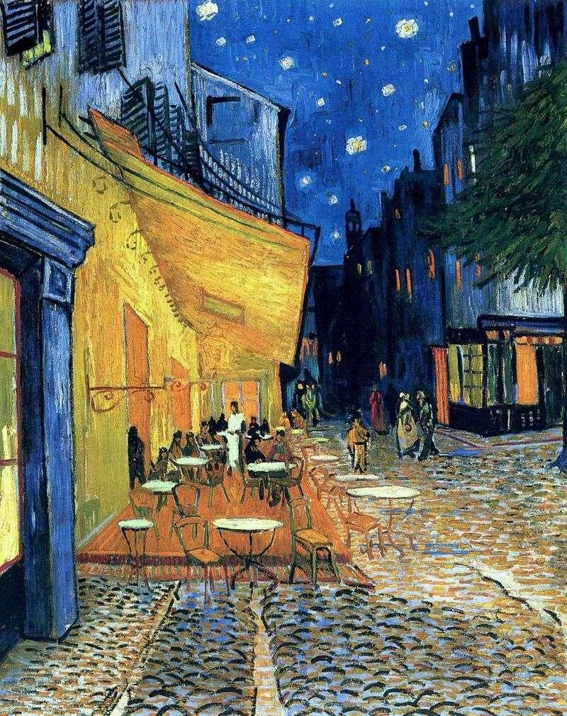 Тераса кафе на Площі Форум в Арлі, вночі   Вінсент Ван Гог
