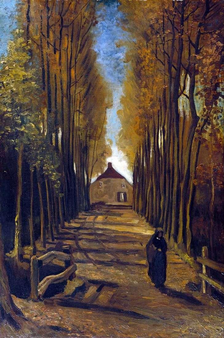 Тополина алея восени   Вінсент Ван Гог