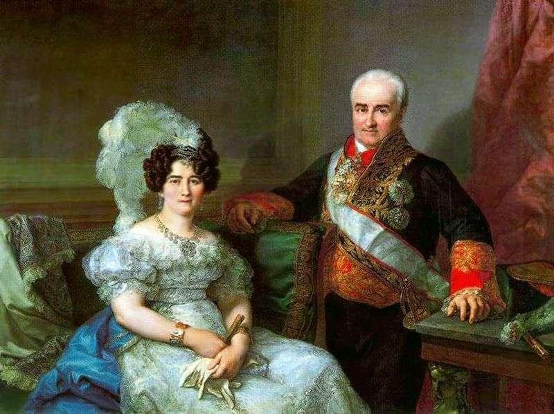 Портрет Антоніо Угарте і його дружини   Лопес Портана