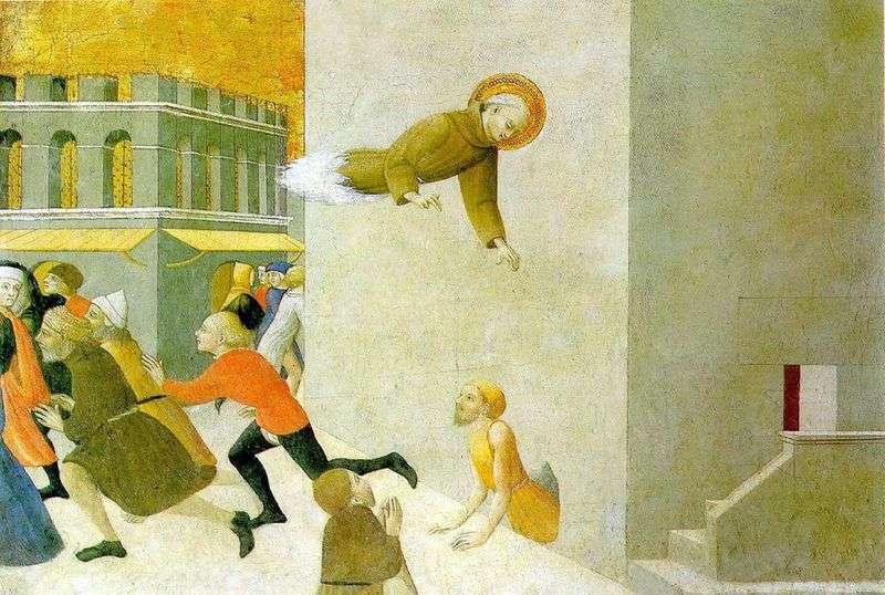 Блаженний Раньєрі Разини, визволяющий бідняка з вязниці у Флоренції   Сассетта (Стефано ді Джованні)