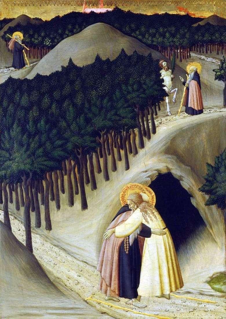 Зустріч св. Антонія зі св. Павлом   Стефано Сассетта