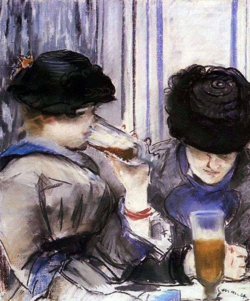 Жінки, які пють пиво   Едуард Мане