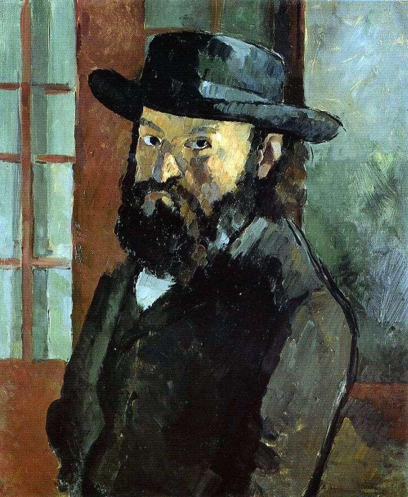 Автопортрет в капелюсі   Поль Сезанн