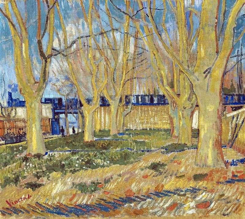 Вулиця з платанами поруч зі станцією Арли   Вінсент Ван Гог