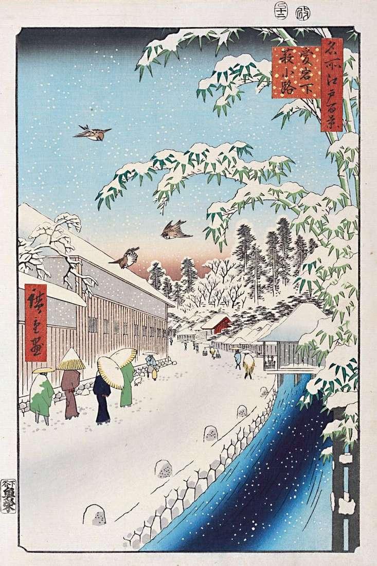 Атагосита, вулиця Ябукодзи   Утагава Хиросигэ