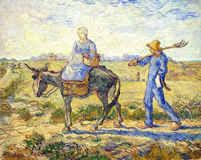 Ранок: відправлення на роботу (за Міллем)   Вінсент Ван Гог