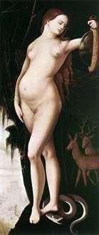 Розсудливість (Жінка з дзеркалом і змією)   Ганс Бальдунг