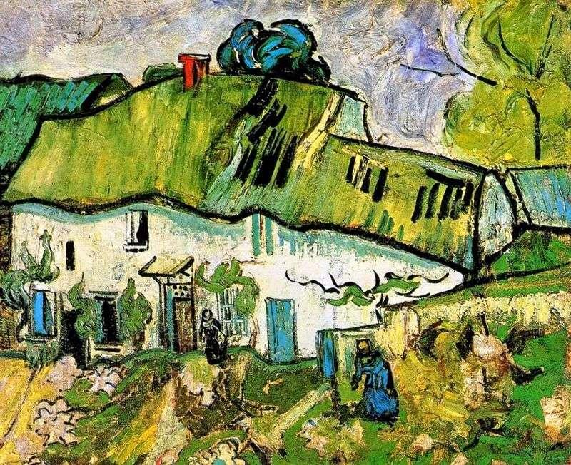Фермерський будинок з двома фігурами   Вінсент Ван Гог