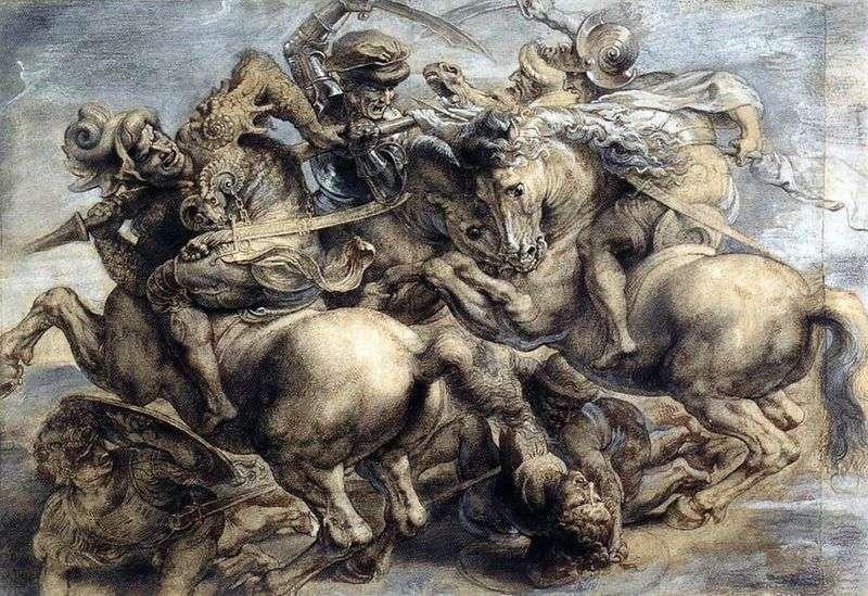 Битва при Ангиари   Леонардо да Вінчі