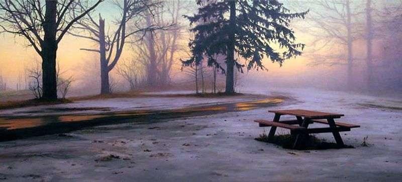 Стіл для пікніка взимку   Скотт Прайор