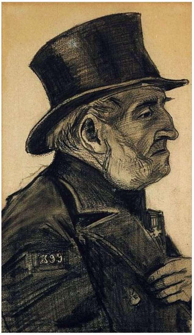 Людина з притулку, в циліндрі   Вінсент Ван Гог