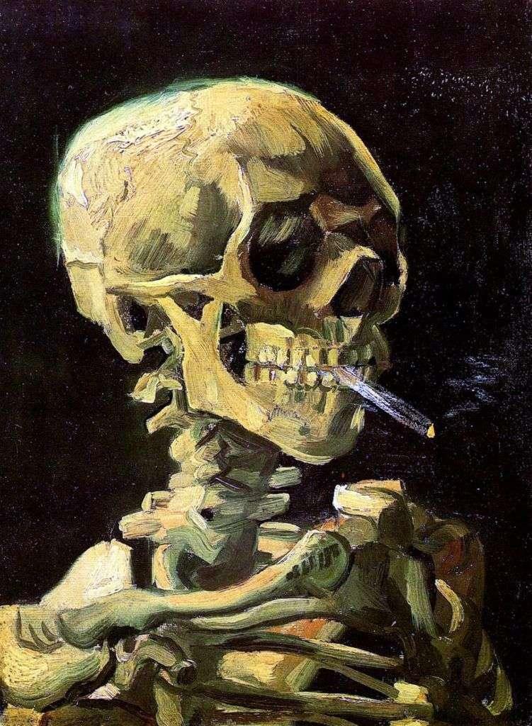 Череп з запаленою сигаретою   Вінсент Ван Гог