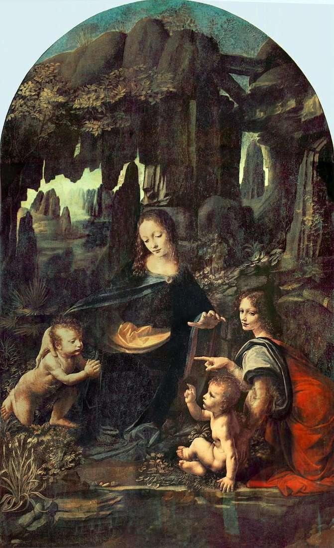 Мадонна в скелях (Мадонна в гроті)   Леонардо Да Вінчі