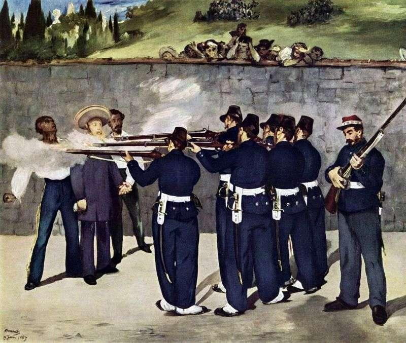 Розстріл імператора Максиміліана, Едуард Мане