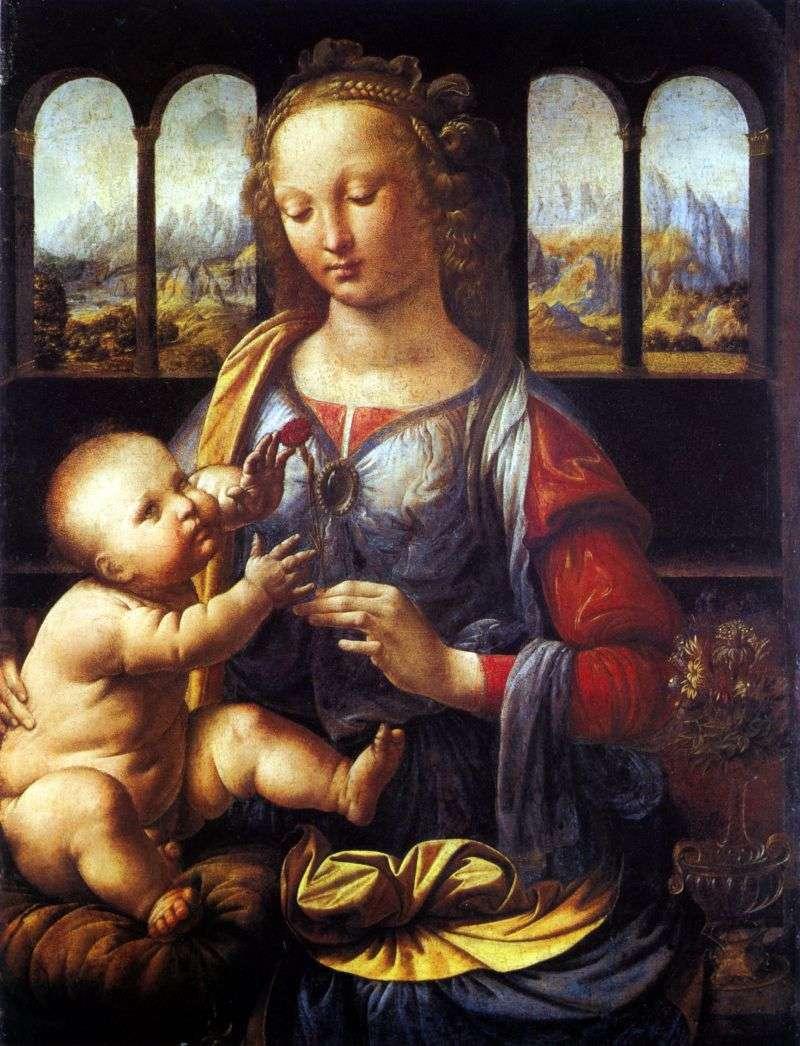Мадонна з гвоздикою   Леонардо Да Вінчі