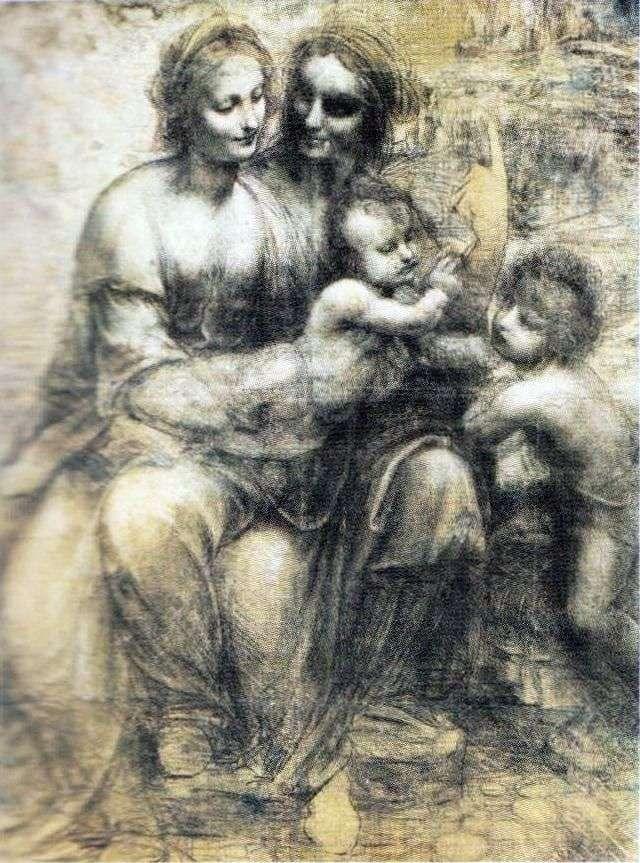 Мадонна з немовлям, Анною та Іоаном   Леонардо да Вінчі