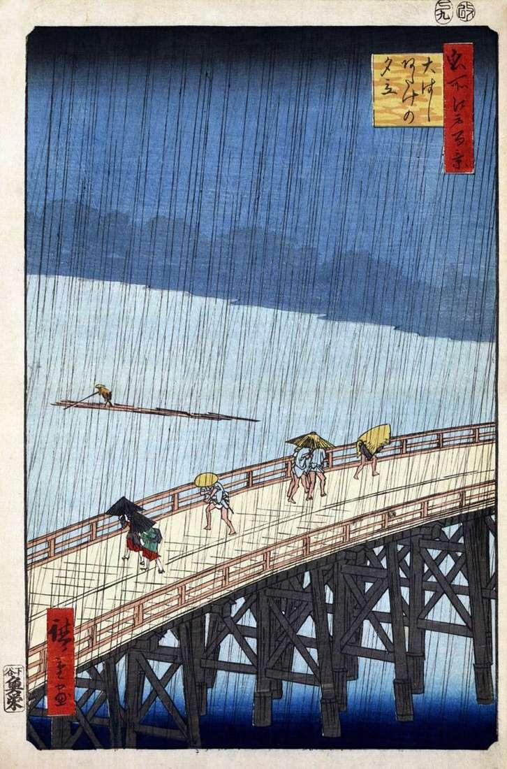 Злива над мостом Охасі, місцевість Атакэ