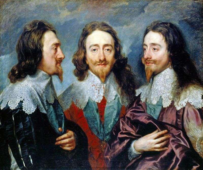 Карл I в трьох ракурсах   Ентоні Ван Дейк