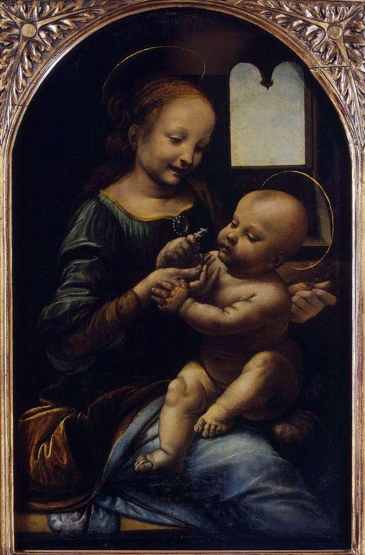 Мадонна з квіткою (Мадонна Бенуа)   Леонардо да Вінчі