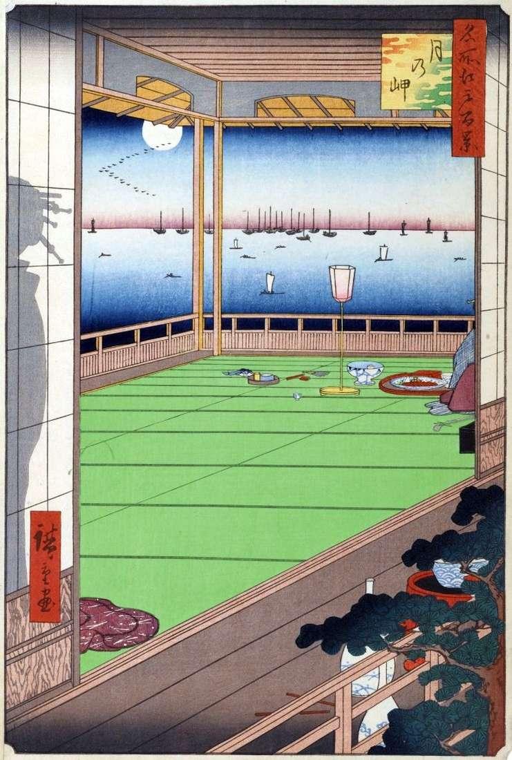 Місяць над мисом   Утагава Хиросигэ