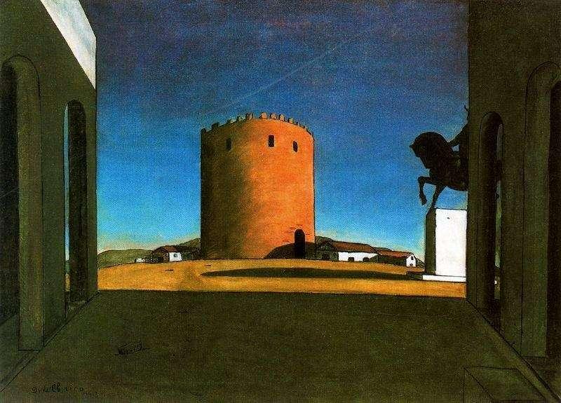Червона вежа   Джорджо де Кіріко