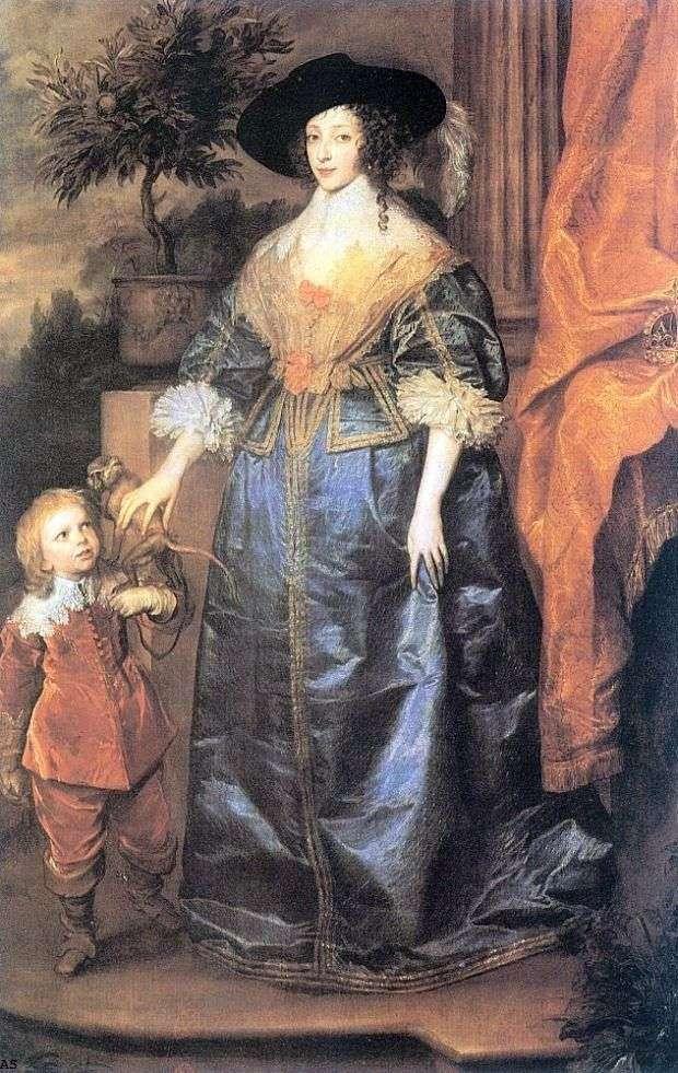 Королева Генрієтта Марія і сер Джеффрі Хадсон   Ентоні Ван Дейк