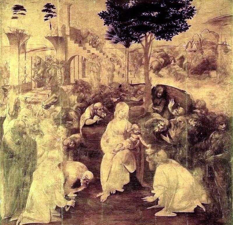 Поклоніння волхвів   Леонардо да Вінчі