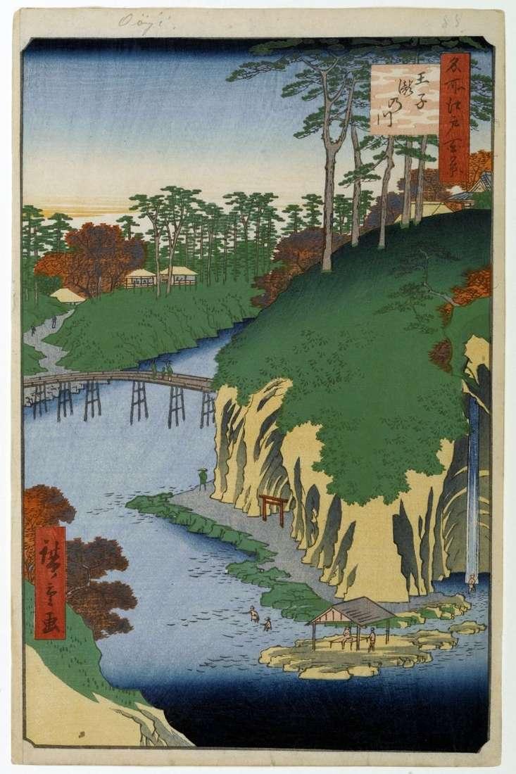 Місцевість Такиногава в Одзі   Утагава Хиросигэ