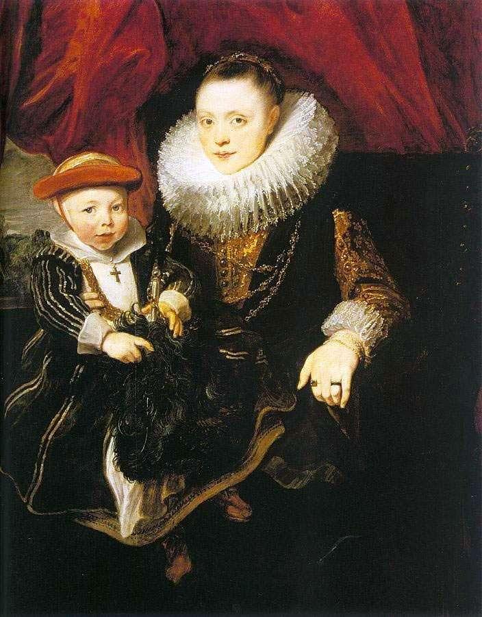 Молода жінка з дитиною   Ентоні Ван Дейк