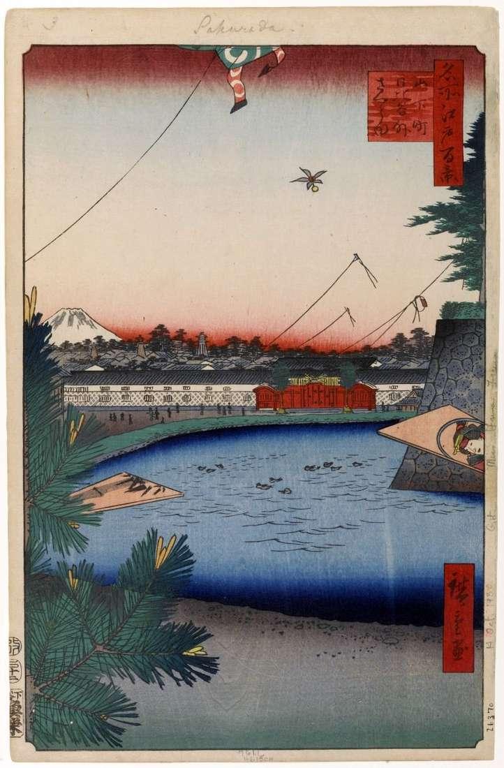 Місцевість Хібія в районі Сото Сакурада від кварталу Ямасіта ті   Утагава Хиросигэ
