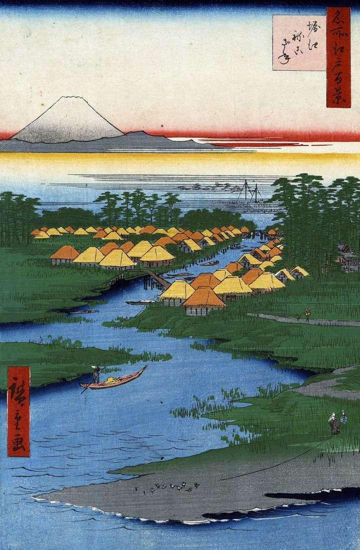 Місцевість Хориэ і Нэкодзанэ   Утагава Хиросигэ