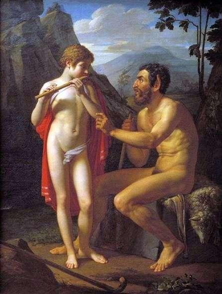 Фавн Марсій вчить юнака Олімпія грі на сопілці   Петро Басін