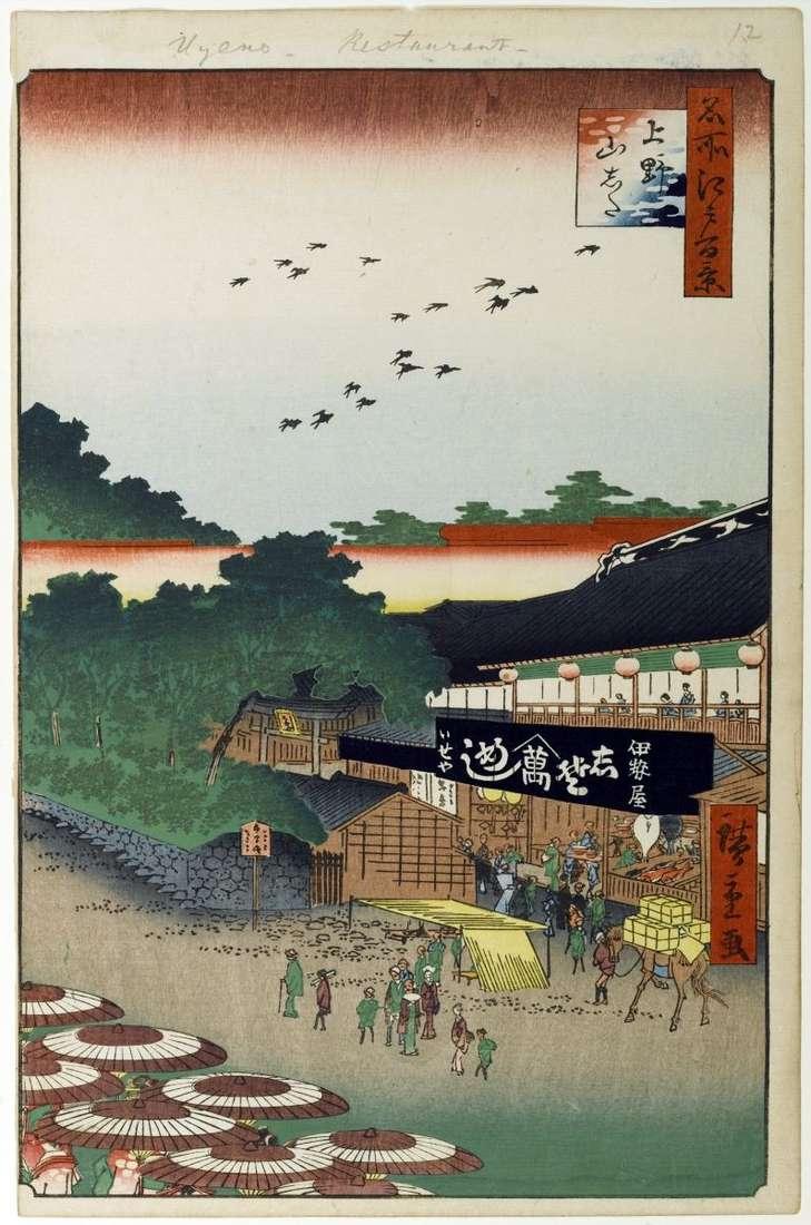 Місцевість Ямасіта у Уено   Утагава Хиросигэ