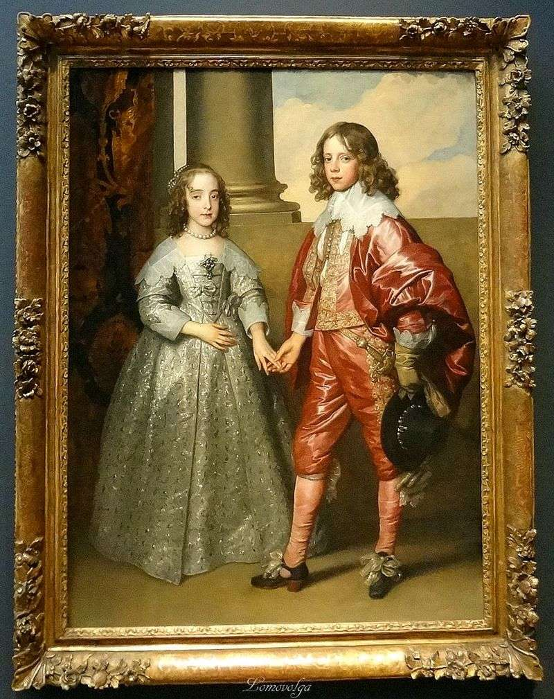 Портрет Вільгельма Оранського з його нареченою Марією Стюарт   Ентоні Ван Дейк