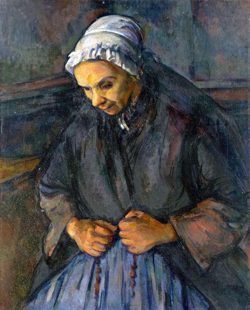 Стара з чотками   Поль Сезанн