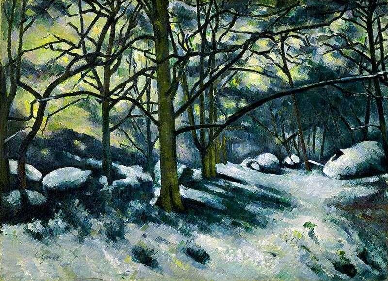 Танучий сніг у лісі Фонтенбло   Поль Сезанн
